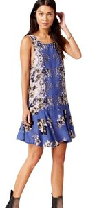 Free People short dress Blue Combo Flounce Fit And Flare Print Floral Soft on Tradesy
