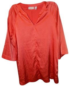 Chico's Drop Waist Shift Oversized Tie Elastic Tunic