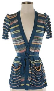 Missoni Striped Ruffle Belted Cardigan