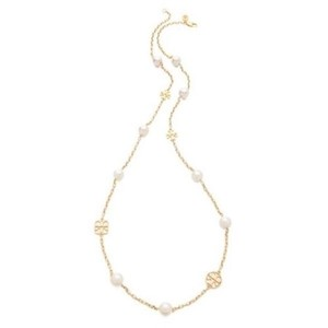 Tory Burch Evie Rosary Station Logo And Pearl