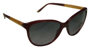 Gucci NEW Gucci GG 3692/S Gold Plated Burgundy Cat Eye Sunglasses