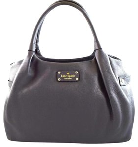 Kate Spade Leather Stevie Tote in Gray