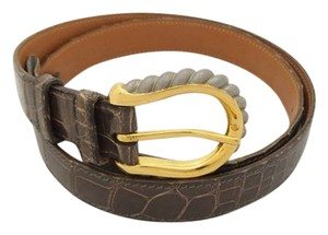 Hermès Crocodile H Belt (31