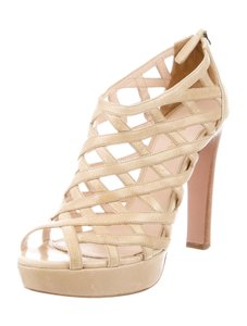 Prada Strappy Caged 8.5 Nude Sandals