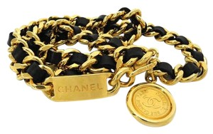 Chanel CC Black Chain Belt 211636