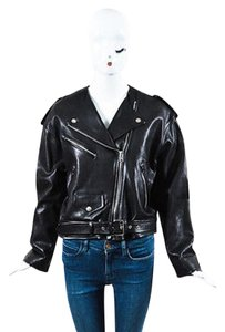 Isabel Marant Leather Silver Tone Zip Audric Ls Moto Motorcycle Jacket