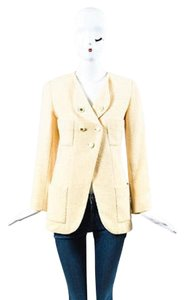 Chanel Vintage Boutique Boucle Wool Double Breasted Jacket Pea Coat