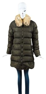 Prada Sport Olive For Fur Quilted Down Coat