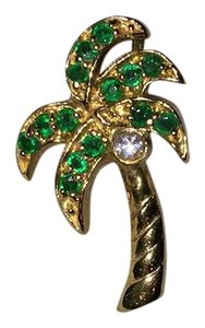 EFFY 14k Yellow Gold With Diamond And Emerald Palm Tree Pendant