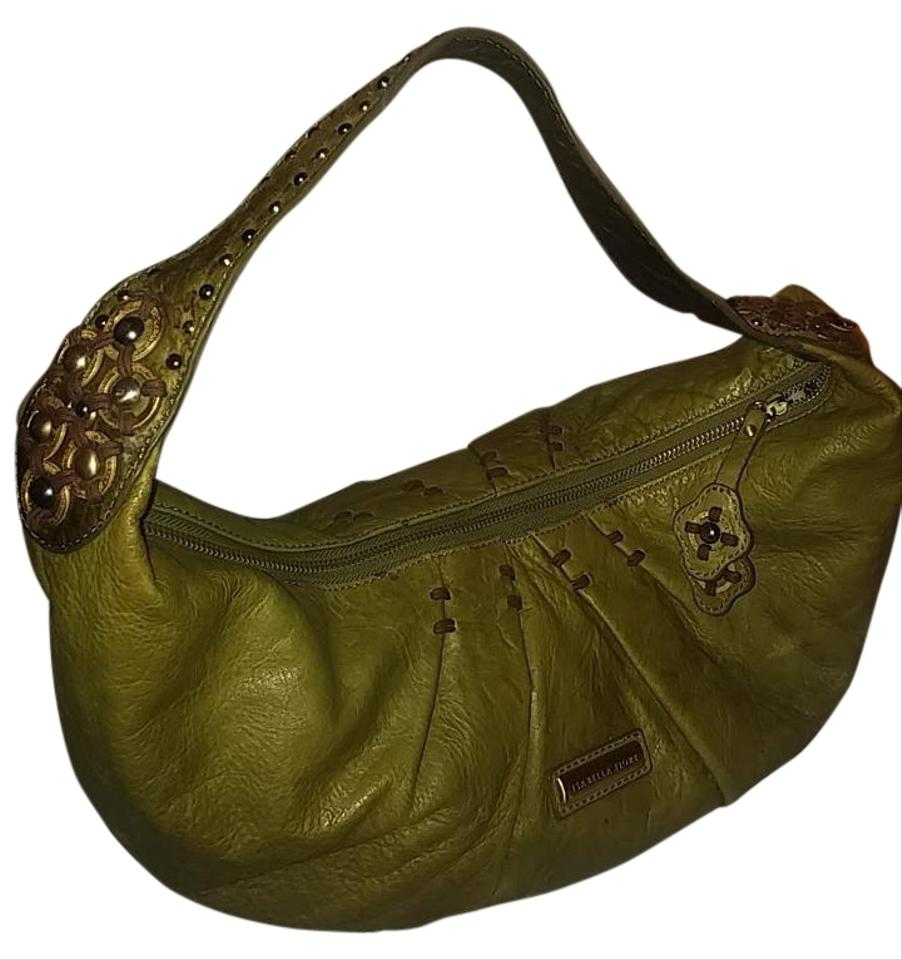 5e2df2aef911 Isabella Fiore Olive Green Destressed Leather Hobo Bag - Tradesy