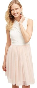Anthropologie short dress White with Pink Tulle Balerina on Tradesy