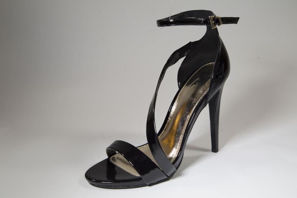 Lust For Life Black Strappy Sandals Heels Womens Formal Heels Sandals Strappy fae4ff