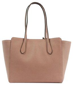 Gucci Swing Leather Tote in Pink