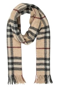 Burberry Brown, red multicolor Burberry Nova Check wool scarf
