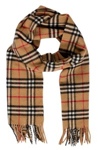 Burberry Brown, red multicolor Burberry Nova Check lambwool scarf