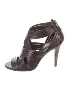 Tory Burch Strappy Leather Black Sandals
