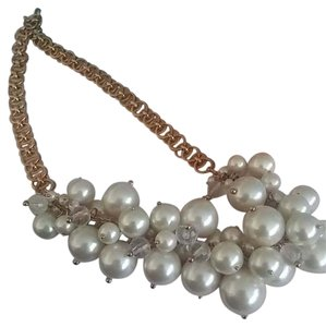 J.Crew Discontinued gold chain with pearl clustered j.crew necklace.