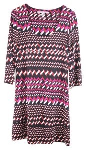 Diane von Furstenberg short dress Black Silk Shift Knee-length Printed on Tradesy