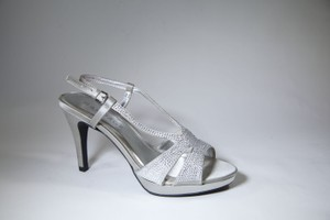 Rampage Rampage Wedding Shoes Silver Heels Satin Platform Wedding Shoes