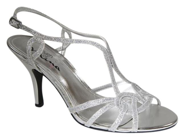 Touch of Nina Silver Sparkle Bridal/Formal By Stiletto Heel Sandals Size US 8.5 Regular (M, B) Touch of Nina Silver Sparkle Bridal/Formal By Stiletto Heel Sandals Size US 8.5 Regular (M, B) Image 1