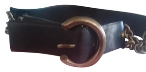 Francesco Biasia Leather belt with chain link on both sides