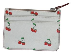 Marc by Marc Jacobs Women's White Cherry Print Lina Card Holder