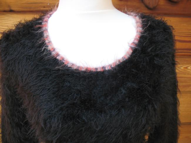 Coccole Italy Wool Blend Long Sleeve Fuzzy Sweater
