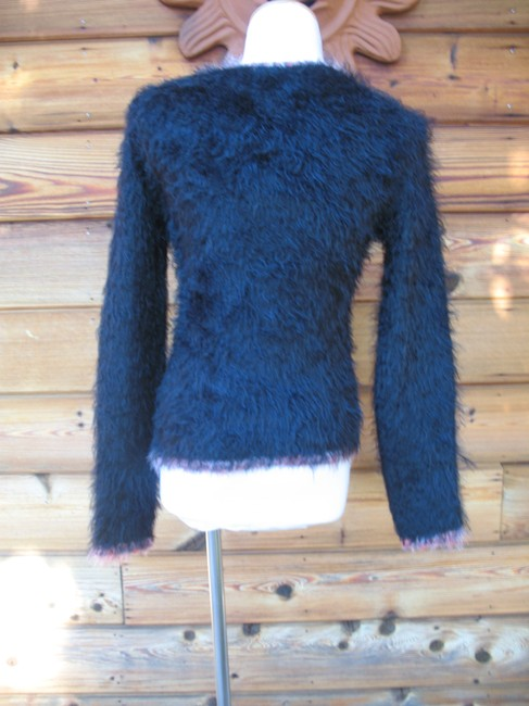 Coccole Italy Wool Blend Long Sleeve Fuzzy Sweater Image 5
