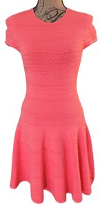 Torn by Ronny Kobo short dress Coral on Tradesy