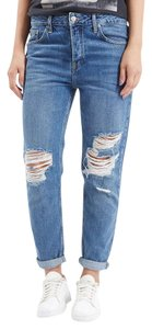 Topshop Boyfriend Cut Jeans-Medium Wash