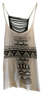 Wet Seal Cross Slashed Punk Sleeveless Top White