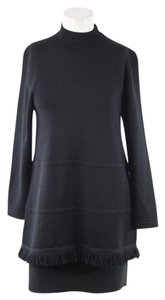 St. John Black Hem Dress Mini Sweater