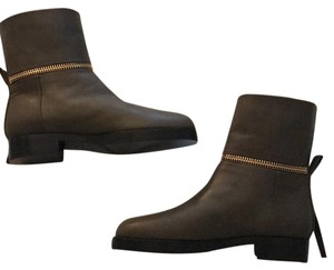 Pierre Hardy Army green with gold zipped Boots