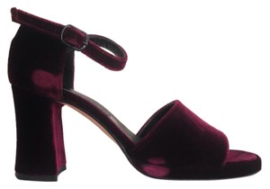 Anne Klein Classic Evening Velvet Vintage Plum Platforms
