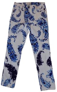 Beige by ECI Floral Stretchy Bold Retro Premium Straight Pants