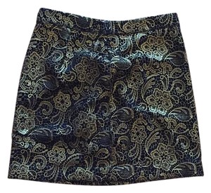 Anthropologie Mini Skirt Gold