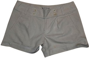 Nanette Lepore Premium Sparkle Embellished Detail Structured Cuffed Shorts Tan Sparkle