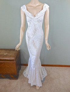 Vintage Mermaid Lace Dress Wedding Dress