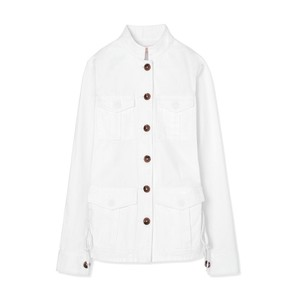 Tory Burch White Womens Jean Jacket