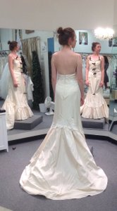 Vintage Satin & Lace Mermaid Dress Wedding Dress