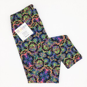 LuLaRoe Lularoe NEON DAMASK OS LEGGINGS HTF UNIRCORN BNWT Leggings Leggings