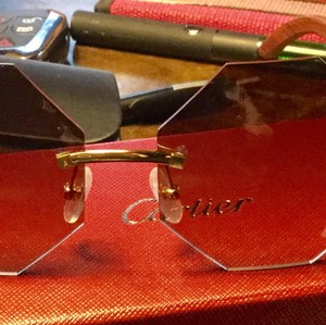 8f37b5b7526f Brown Cartier Sunglasses - Up to 70% off at Tradesy