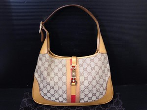 Gucci Monogram Leather Shoulder Bag