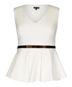 City Chic Top ivory
