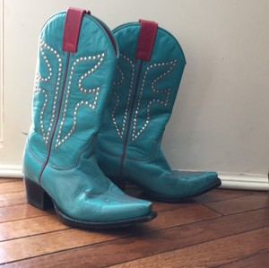 Frye Turquoise and red Boots