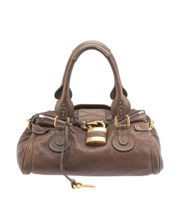 Chlo Paddington Leather Satchel in Brown