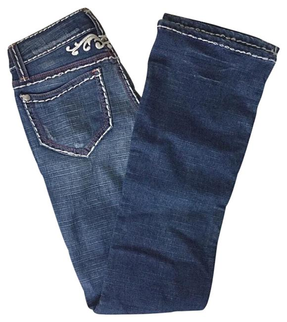 Item - Blue Contour Collection Embroidered Boot Cut Jeans Size 24 (0, XS)
