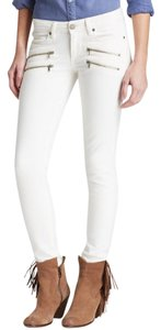 Paige Denim Skinny Zippers White Skinny Jeans-Light Wash