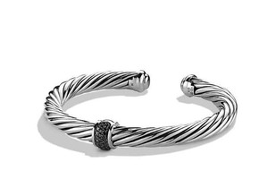 David Yurman Cable Classics Bracelet with Black Diamonds, 7mm