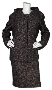 Chanel Chanel Red & Navy Wool Skirt Suit sz FR48